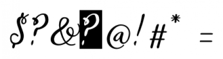 Gardeny Regular Font OTHER CHARS