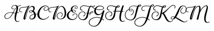 Gardeny Regular Font UPPERCASE