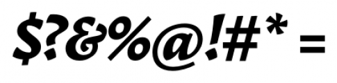 Garibaldi Black Italic Font OTHER CHARS