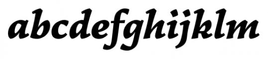 Garibaldi Black Italic Font LOWERCASE