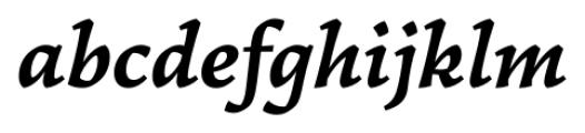 Garibaldi Bold Italic Font LOWERCASE
