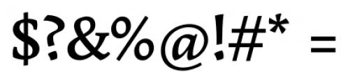 Garibaldi Medium Font OTHER CHARS