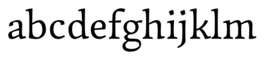 Garibaldi Regular Font LOWERCASE