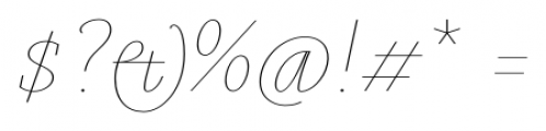 Gauthier Display FY Thin Italic Font OTHER CHARS