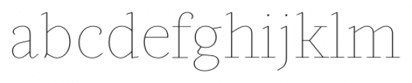 Gauthier Display FY Thin Font LOWERCASE