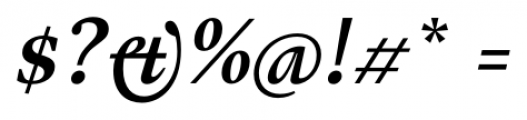 Gauthier FY Bold Italic Font OTHER CHARS