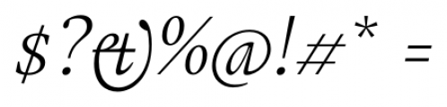 Gauthier FY Italic Font OTHER CHARS