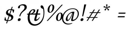 Gauthier FY Medium Italic Font OTHER CHARS