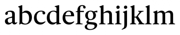 Gauthier FY Medium Font LOWERCASE