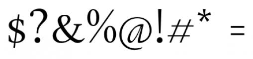 Gauthier FY Regular Font OTHER CHARS