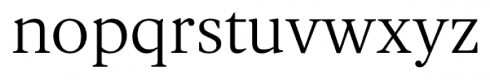 Gauthier FY Regular Font LOWERCASE