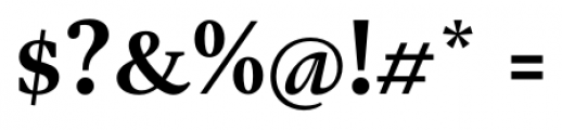 Gauthier Next FY Bold Font OTHER CHARS