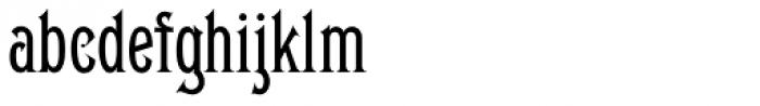 Gable Antique Cond SG Regular Font LOWERCASE