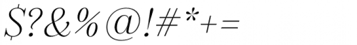 Gabriela Alt Light Italic Font OTHER CHARS