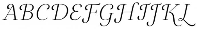 Gabriela Alt Light Italic Font UPPERCASE