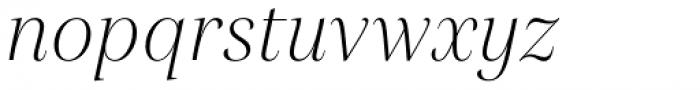 Gabriela Alt Light Italic Font LOWERCASE