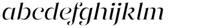 Gabriela Stencil Regular It Font LOWERCASE