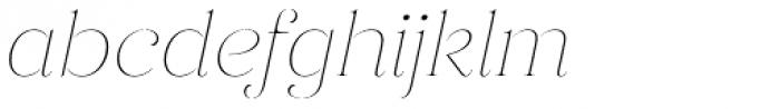 Gabriela Stencil Thin It Font LOWERCASE