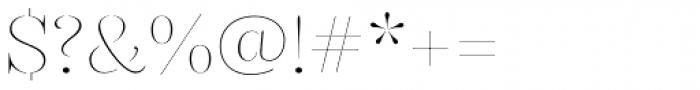 Gabriela Stencil Thin Font OTHER CHARS