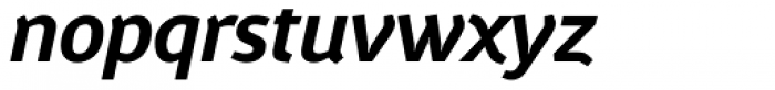Gafata Bold Italic Font LOWERCASE