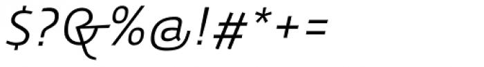 Gafata Book Italic Font OTHER CHARS