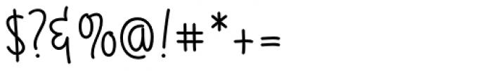Gaffer Font OTHER CHARS