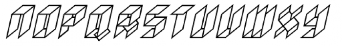 Gaijin Normal Oblique Font UPPERCASE