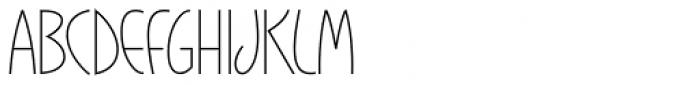 Gaisma Latin Light Font UPPERCASE