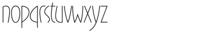 Gaisma Latin Light Font LOWERCASE