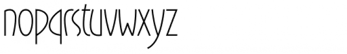 Gaisma Latin Font LOWERCASE