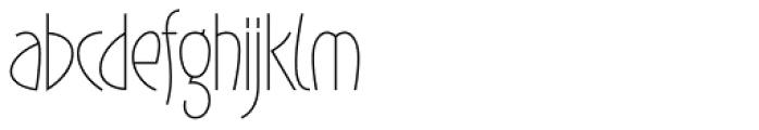Gaisma Light Font LOWERCASE