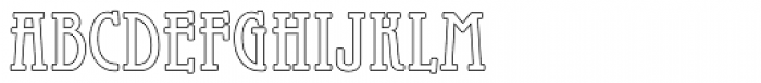 Galadriel Outline Font LOWERCASE