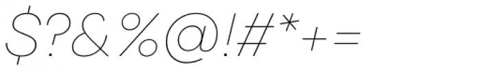 Galano Classic Alt Thin Italic Font OTHER CHARS