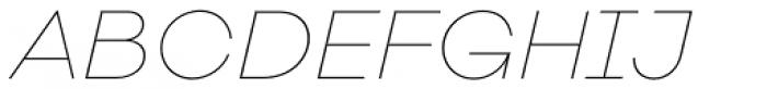 Galano Classic Alt Thin Italic Font UPPERCASE