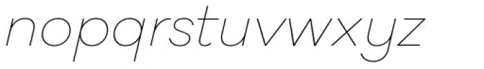 Galano Classic Alt Thin Italic Font LOWERCASE