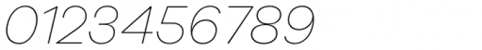 Galano Grotesque Alt Thin Italic Font OTHER CHARS