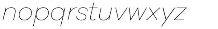 Galano Grotesque Alt Thin Italic Font LOWERCASE