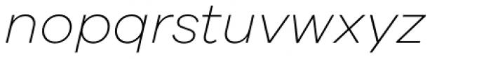 Galano Grotesque Extra Light Italic Font LOWERCASE