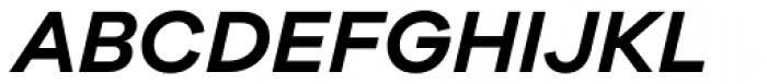 Galano Grotesque Semi Bold Italic Font UPPERCASE