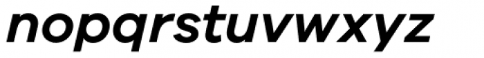 Galano Grotesque Semi Bold Italic Font LOWERCASE