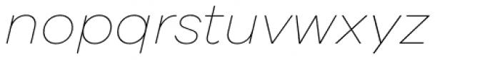 Galano Grotesque Thin Italic Font LOWERCASE