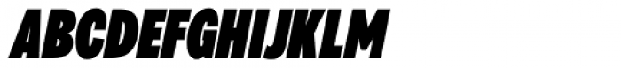 Galatea Black Condensed Italic Font UPPERCASE