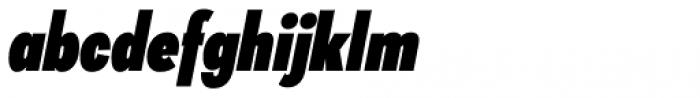 Galatea Black Condensed Italic Font LOWERCASE