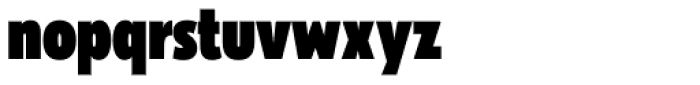Galatea Black Condensed Font LOWERCASE