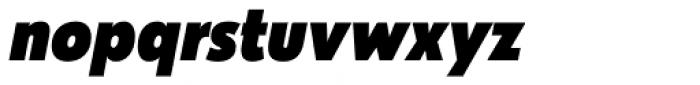 Galatea Black Narrow Italic Font LOWERCASE