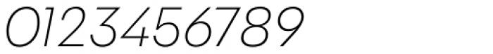 Galatea Extralight Italic Font OTHER CHARS
