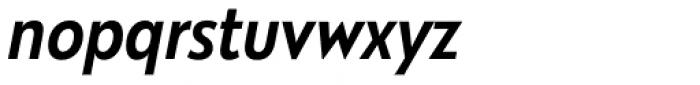 Galatea Medium Narrow Italic Font LOWERCASE