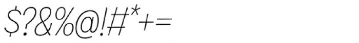 Galatea Thin Narrow Italic Font OTHER CHARS