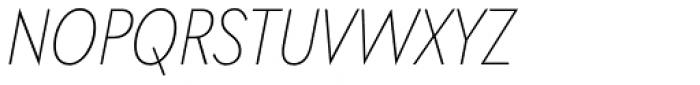 Galatea Thin Narrow Italic Font UPPERCASE