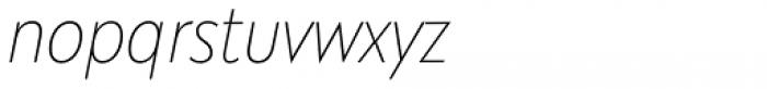 Galatea Thin Narrow Italic Font LOWERCASE